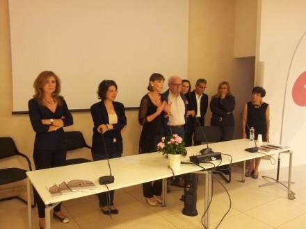 Da sinistra: Giovanna Caleffi, Chiara Prezzavento, Grazia Caleffi, Silvio Scardovelli, Mariangela Caleffi, Fausto Lotti, Stefania Raccanelli, Silvana Ranzoli